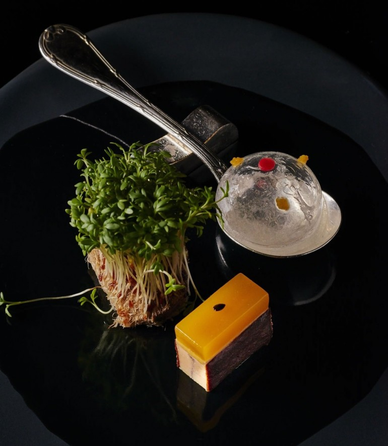 gelée chaude de navet / agrumes