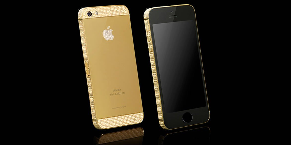 02936c6b6e946 Goldgenie outs a 24k gold iPhone 5E studded with Swarovski crystals -