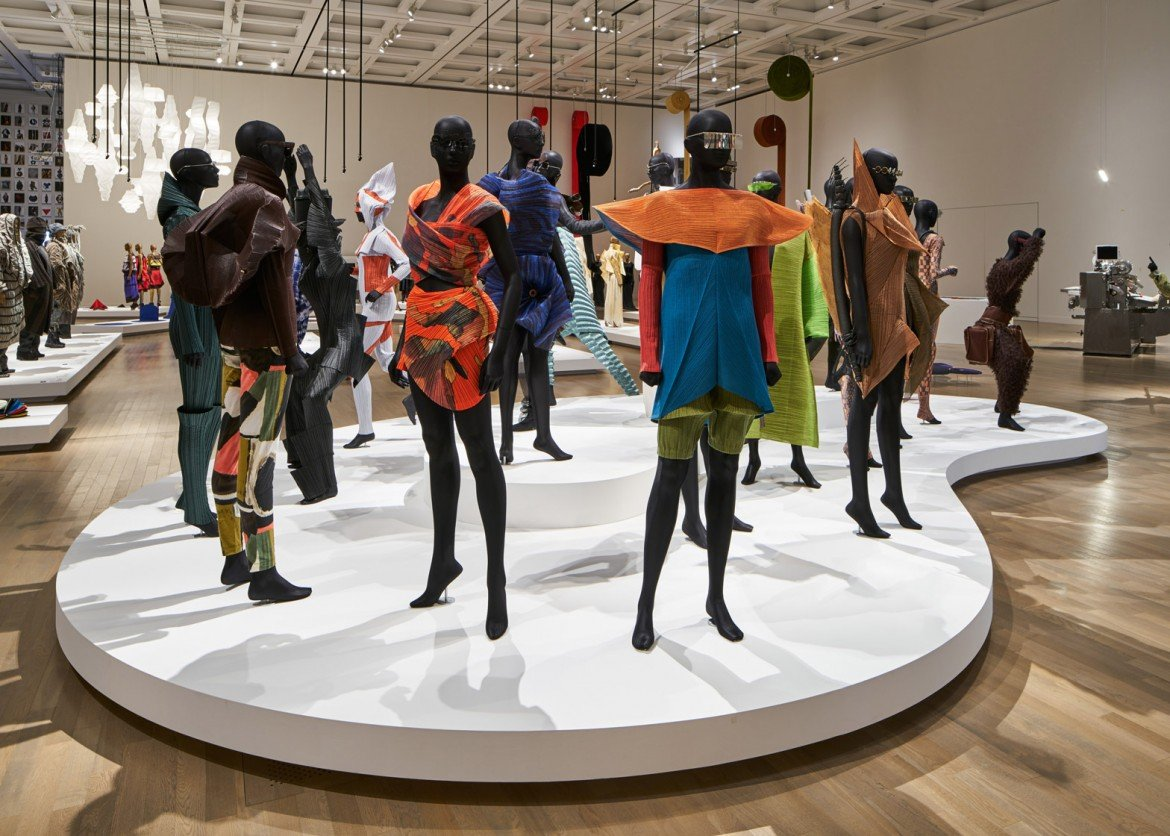 45 years of Issey Miyake designs are on display in a . cd0eb30b65ce3