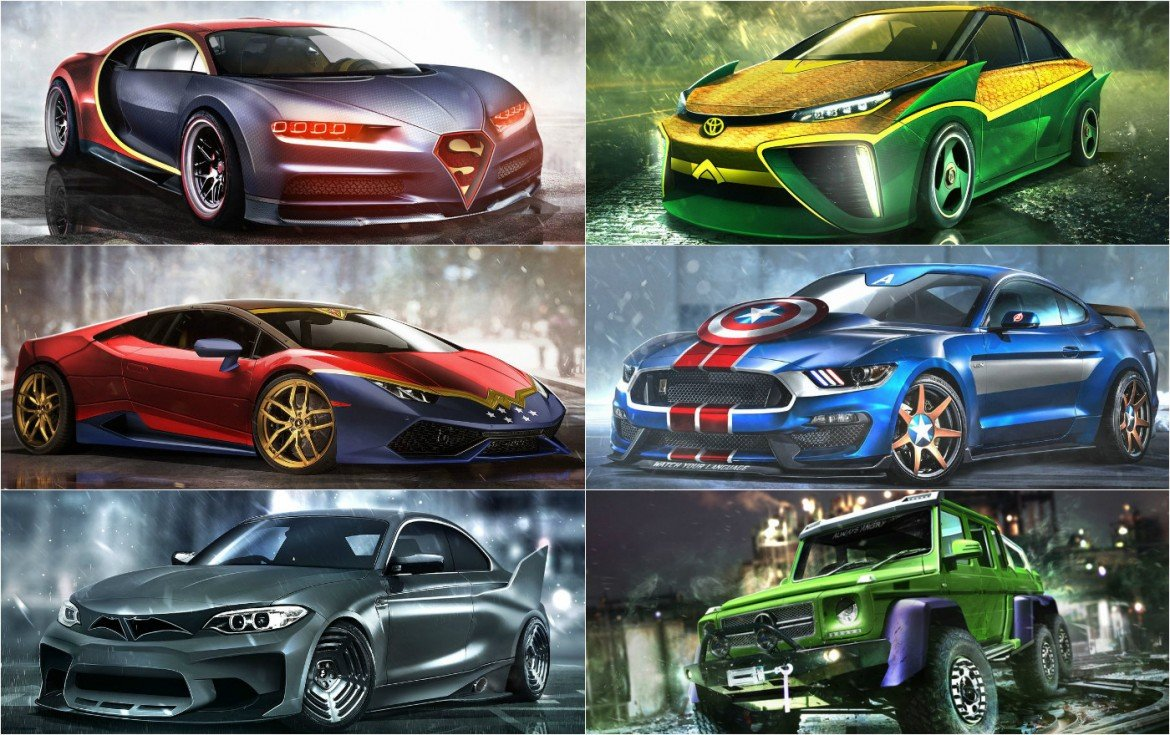 What Supercars Would The Dc And Marvel Superheroes Drive