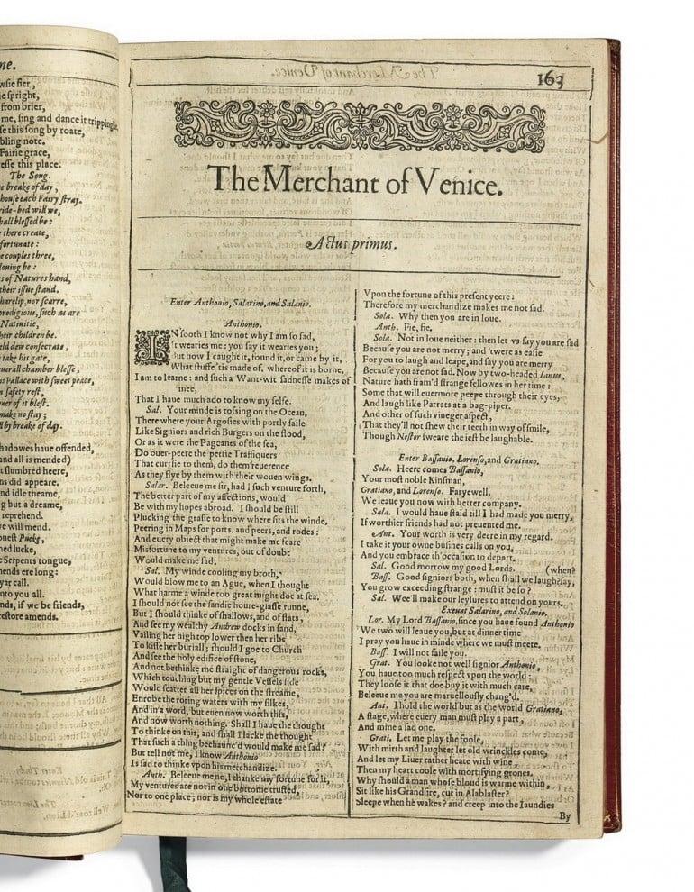 First_Folio_The_Merchant_of_Venice