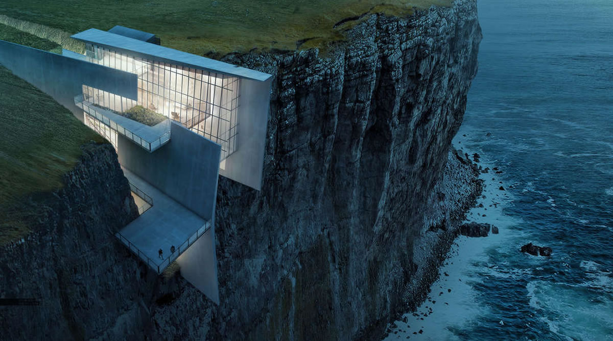Encounter close encounters with nature at the Icelandic Cliffside Retreat