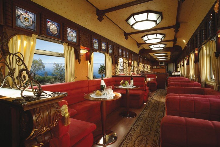 Russia; Siberia; The Golden Eagle Train; Lounge Car (Window with view)