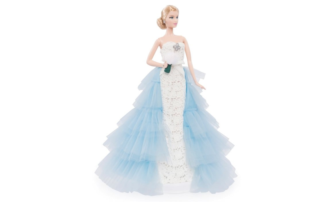 Pretty in blue, Barbie gets a wedding gown from her fashion ...