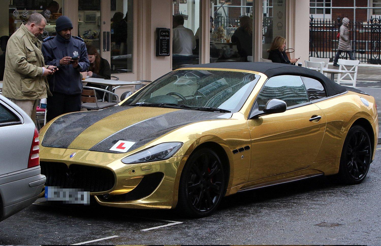 Arab Drives 163 90k Gold Maserati Around London With L Plates