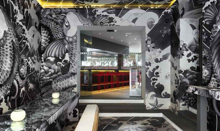 Take a look at this japanese koi restaurant in france with