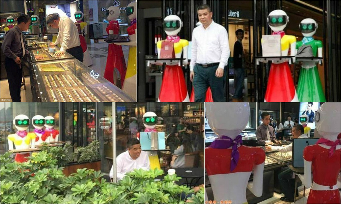 Body guards are passe - Moving around with Robot maids is the new status symbol in China : Luxurylaunches