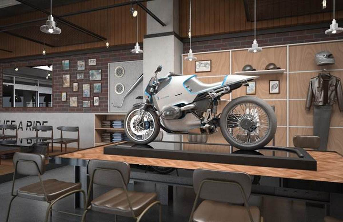 the worlds first bmw motorcycle cafe opens in seoul korea. Black Bedroom Furniture Sets. Home Design Ideas