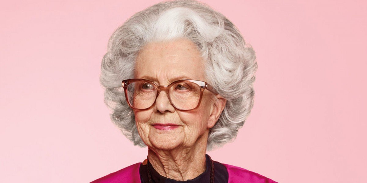 100 year old Bo Gilbert graces the pages of British Vogue for a new Harvey Nichols campaign