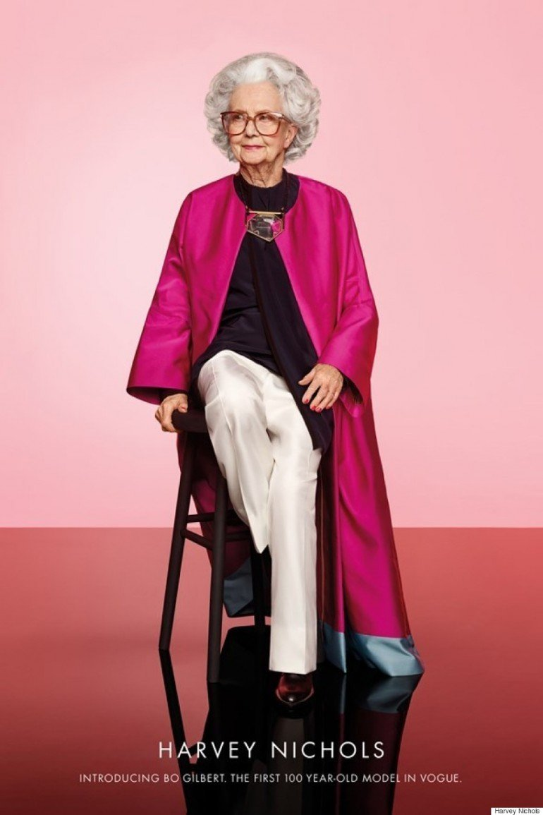 Harvey-Nichols-100-year-old-model-ad-2