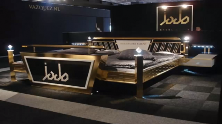 Jado Steel Style Gold Bed