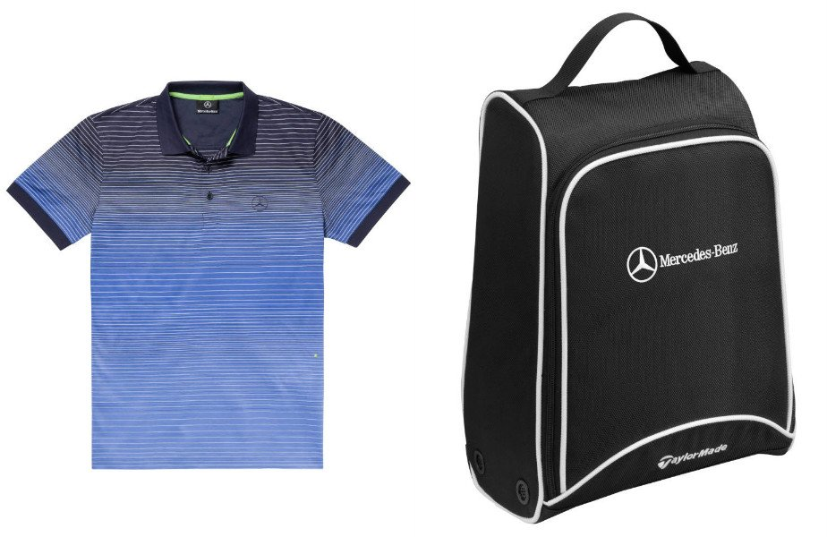 mercedes partners with hugo boss for a 16 piece golf collection. Black Bedroom Furniture Sets. Home Design Ideas