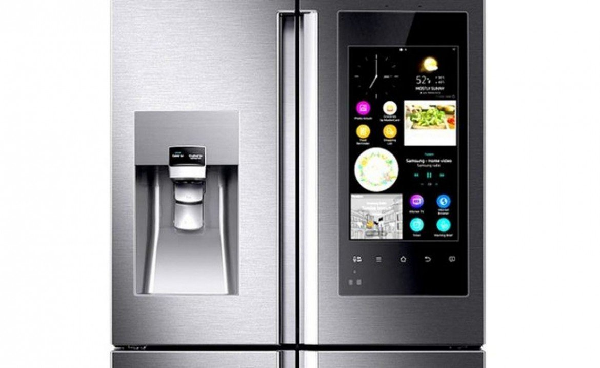 samsung outs a smart refrigerator with cameras and an interactive tablet. Black Bedroom Furniture Sets. Home Design Ideas