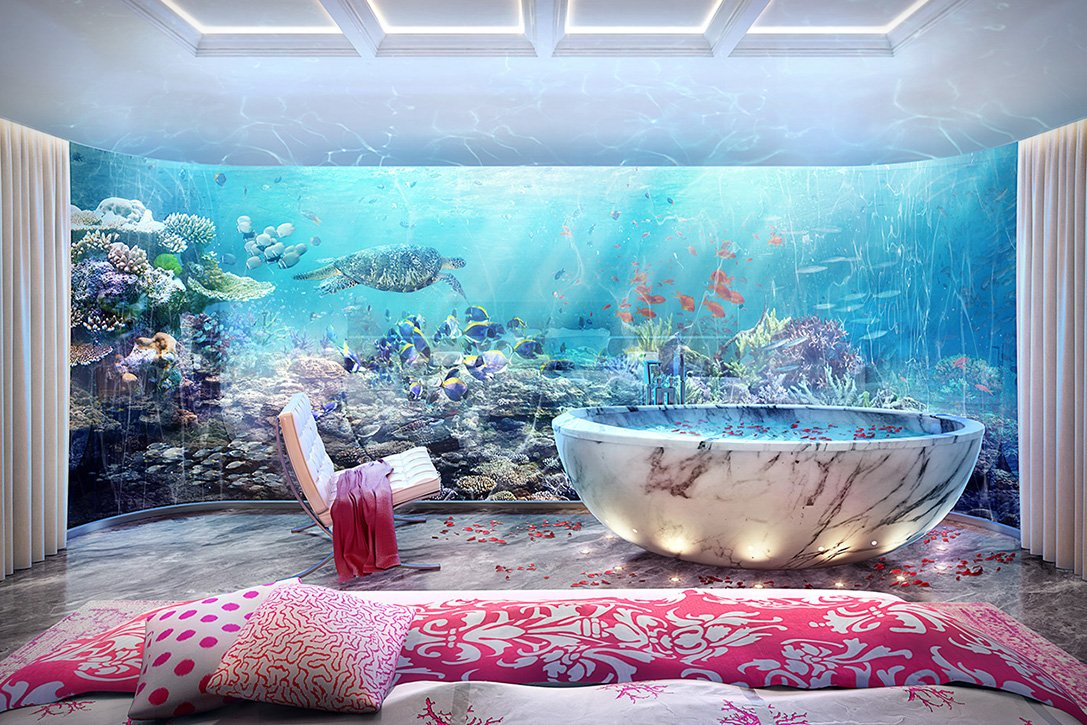 Only in dubai a floating villa with an underwater level - The floating homes of dubai luxury redefined ...
