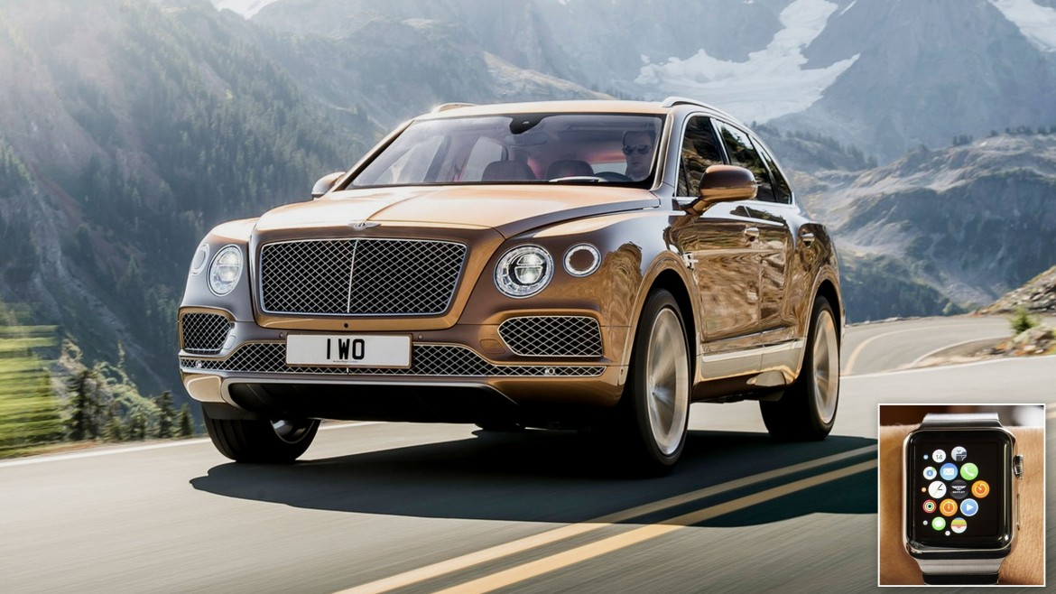 The mighty Bentley Bentayga can now be controlled with the Apple Watch on bentley sport, bentley car models, bentley maybach, bentley falcon, bentley cars 2013, bentley wagon, bentley brooklands, bentley racing cars, bentley truck, bentley watch, bentley concept, bentley zagato, bentley automobiles, bentley icon, bentley arnage, bentley 2013 models, bentley hearse, bentley coop, bentley symbol, bentley state limousine,