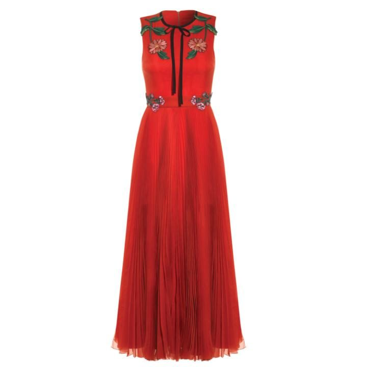 Sleeveless Silk Organdy dress