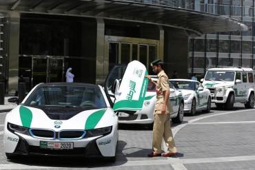 Mideast Dubai Police Exotic Cars