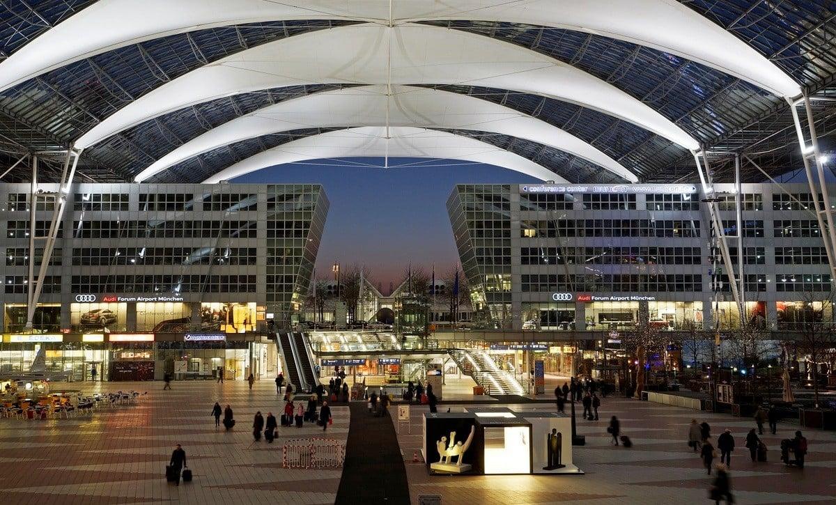 12 - Munich Airport Center at dusk