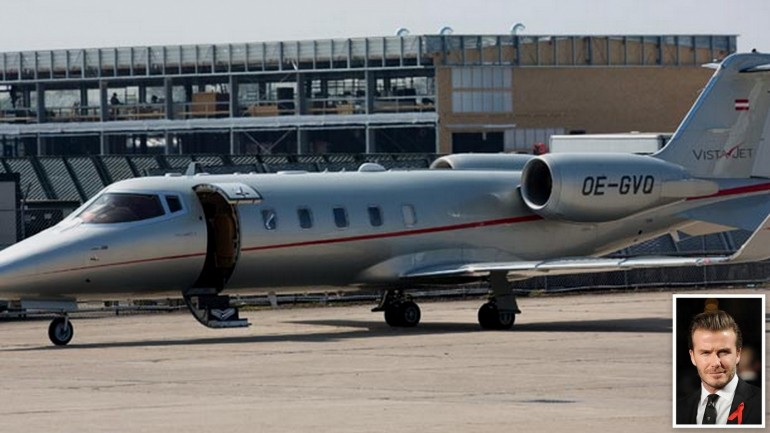 David Beckham's Learjet