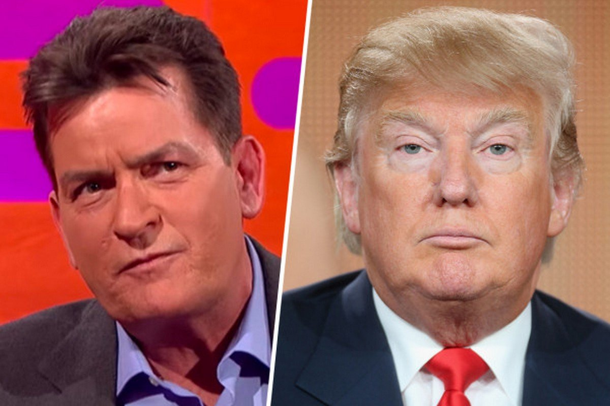 Donald Trump's fake diamond cuff-links gift to Charlie Sheen says ...