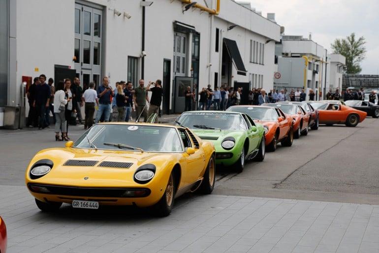 20 Lamborghini Muira's commence the Muira tour