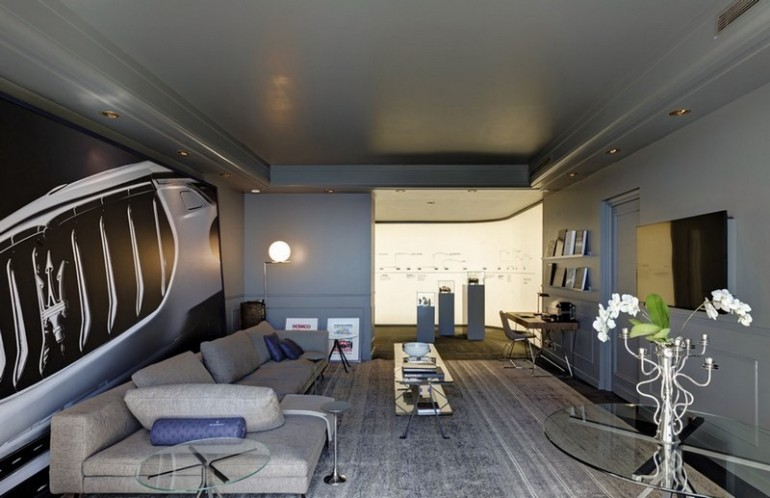 inside the maserati pop up suite at the h tel de paris in monaco. Black Bedroom Furniture Sets. Home Design Ideas