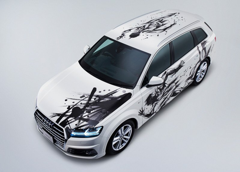 Sumi-e-painted-Audi-Q7 (6)