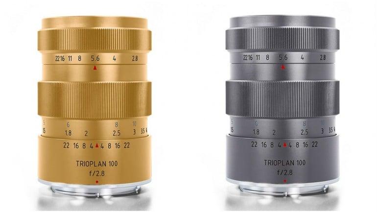 Trioplan limited titanium and gold lenses (1)
