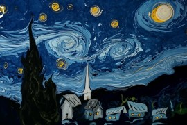 Van-Gogh-Starry-Night-painting-water