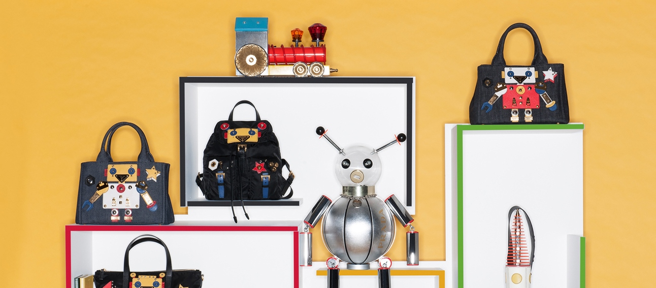 f93189919156 ... backpack 79716 cc87f france pradas robot capsule collection will charm  its way into your handbag collection 98c7d 9f348 wholesale prada ...