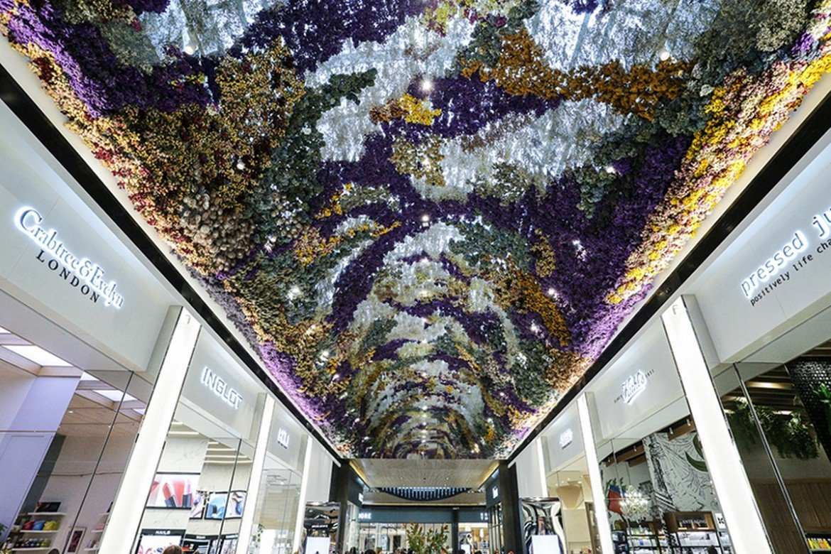 A Melbourne Mall Now Boasts A One Of A Kind Floral Ceiling