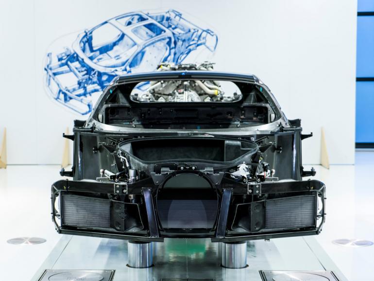 Bugatti Chiron chassis