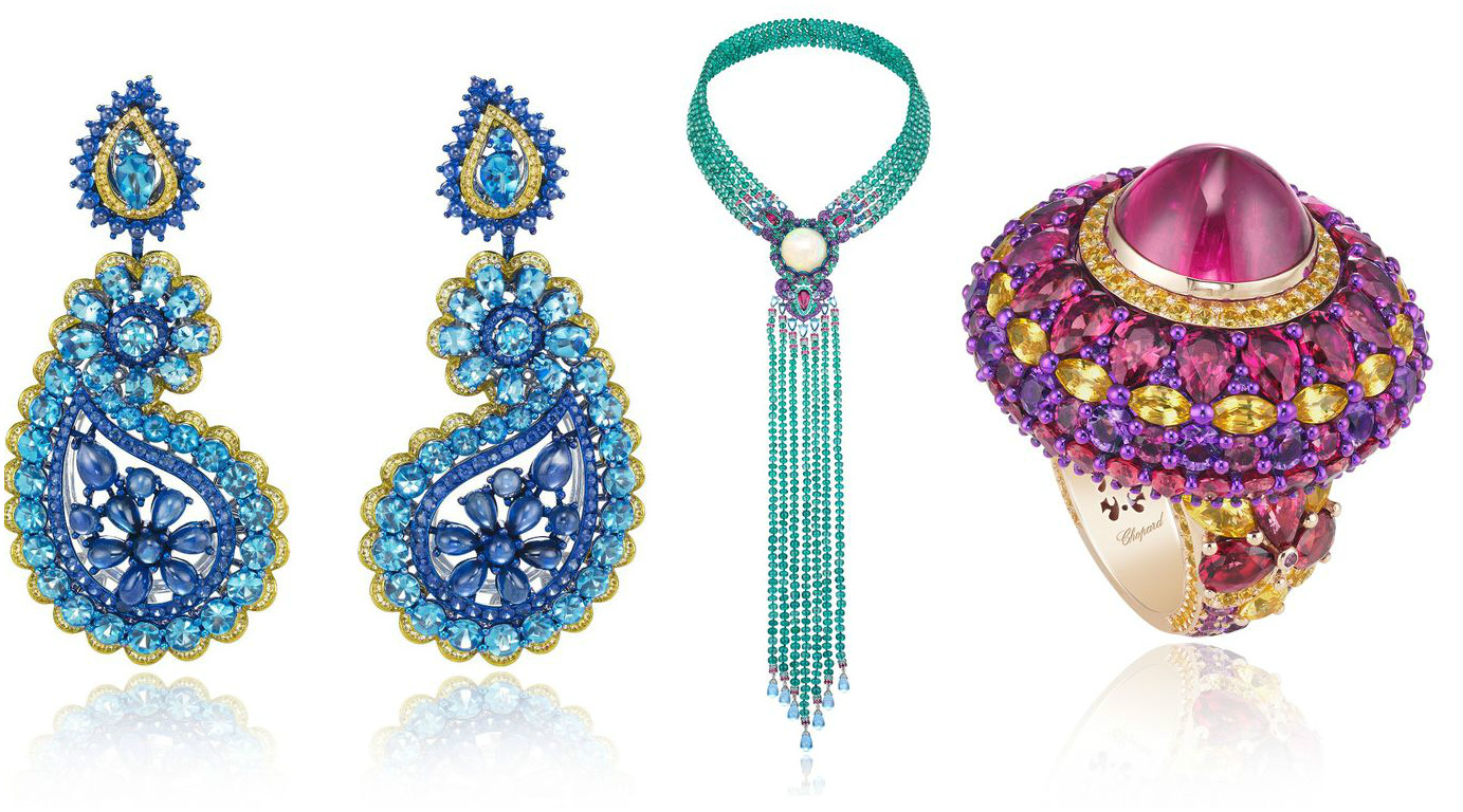 A closer look at chopard s red and green carpet high for Chopard animal world jewelry collection