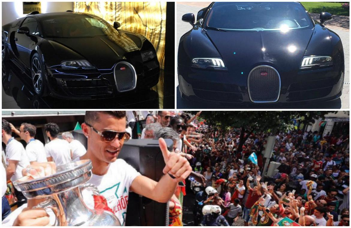 ronaldo gifts himself a 2 million bugatti to celebrate. Black Bedroom Furniture Sets. Home Design Ideas