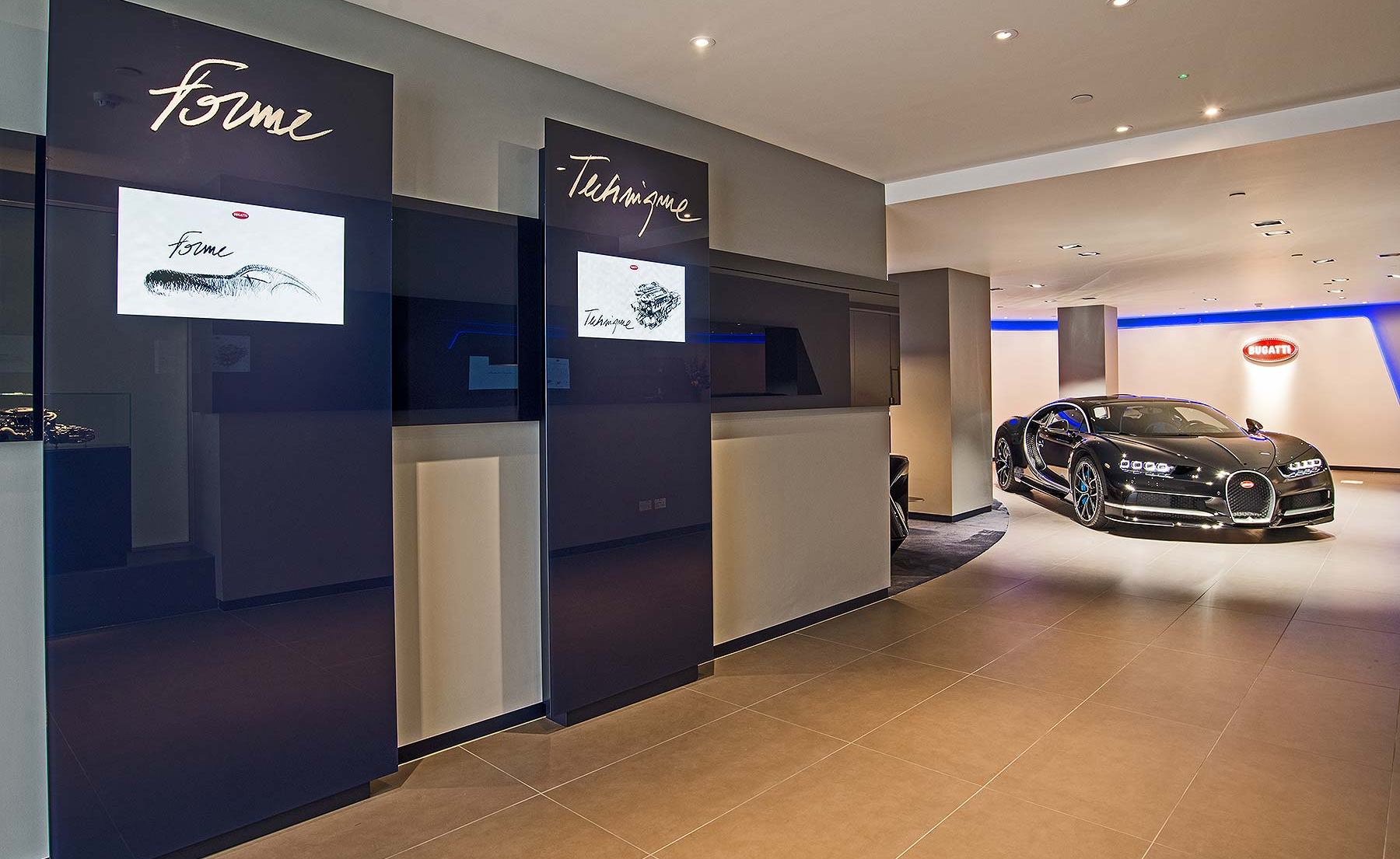 London Reopens Its Bugatti Showroom Features The