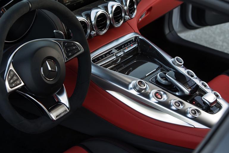 Pressefahrveranstaltung Mercedes-AMG GT S, Laguna Seca, Nov 2014, designo iridiumsilber magno, Leder Exklusiv Nappa red pepper/schwarz