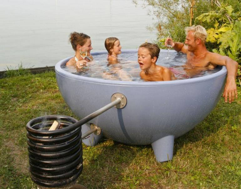The latest avatar of the wood burning dutch outdoor tub is for Outdoor bathtub wood fired