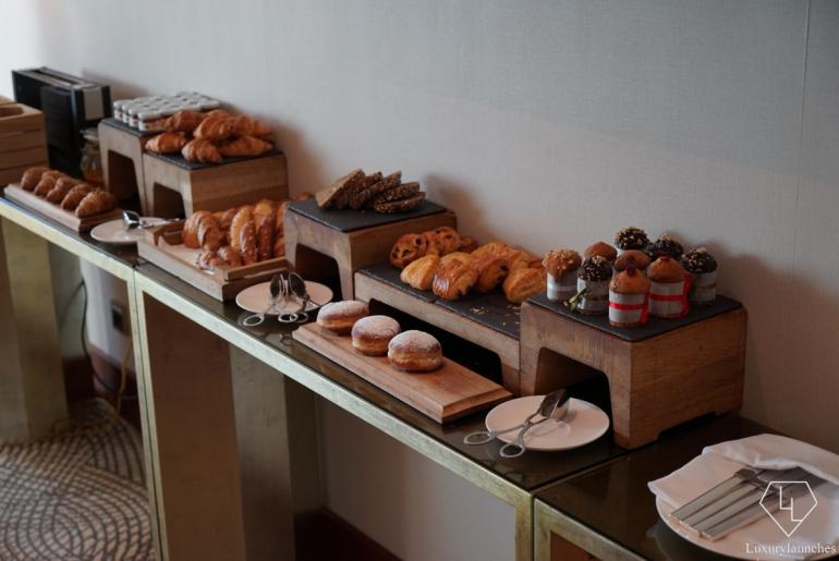 Variety of breads on the menu