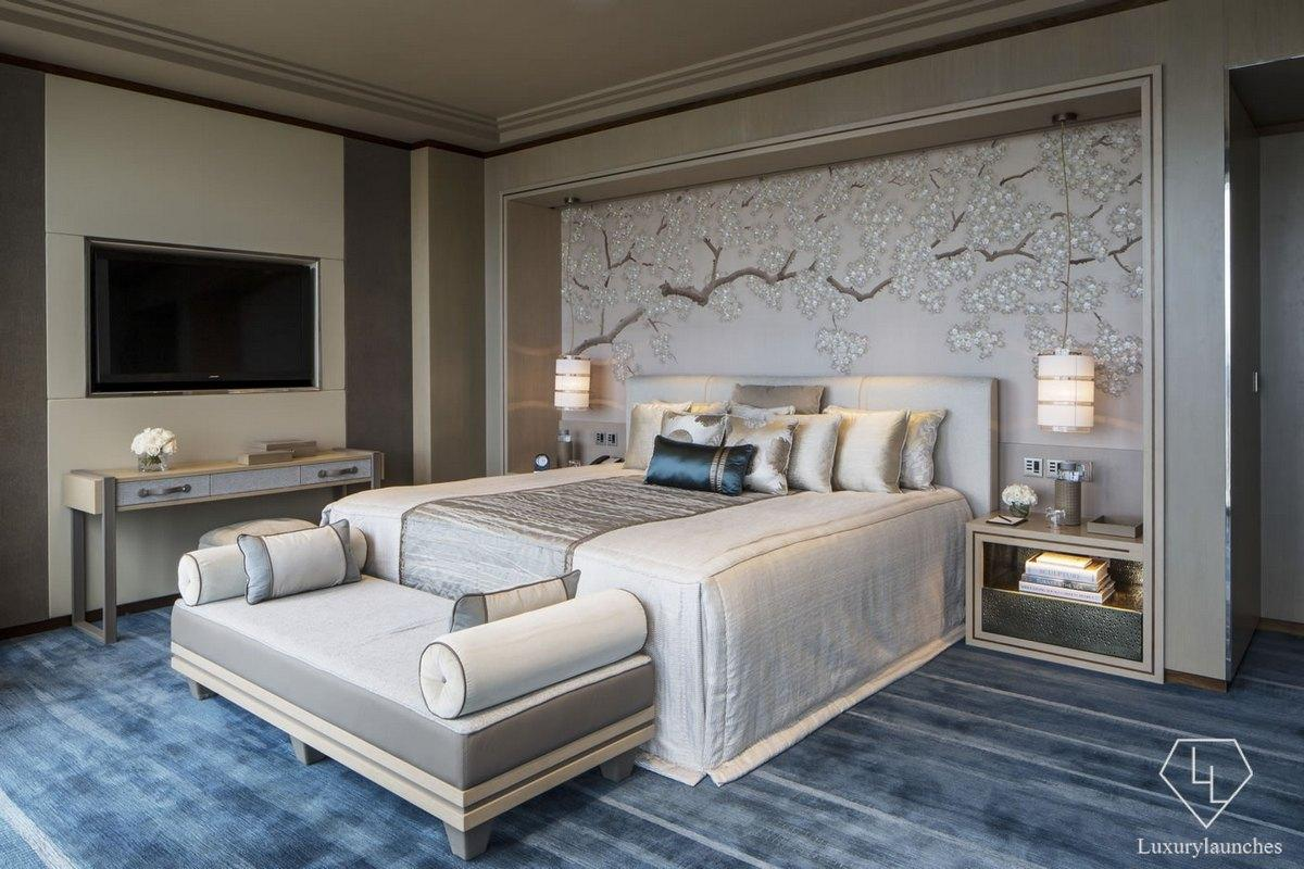 Westminster Suite bedroom - Shangri-La Hotel, At The Shard, London HIGH RES