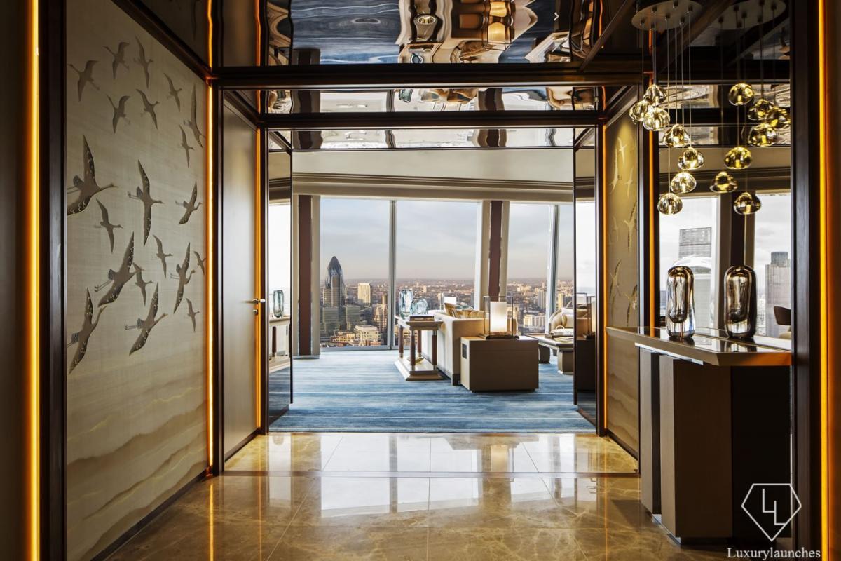 Westminster Suite entrance - Shangri-La Hotel, At The Shard, London HIGH RES
