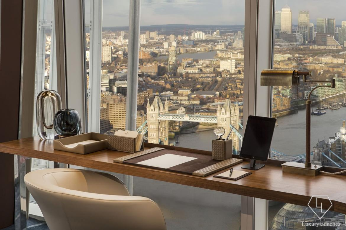Westminster Suite study area - Shangri-La Hotel, At The Shard, London HIGH RES