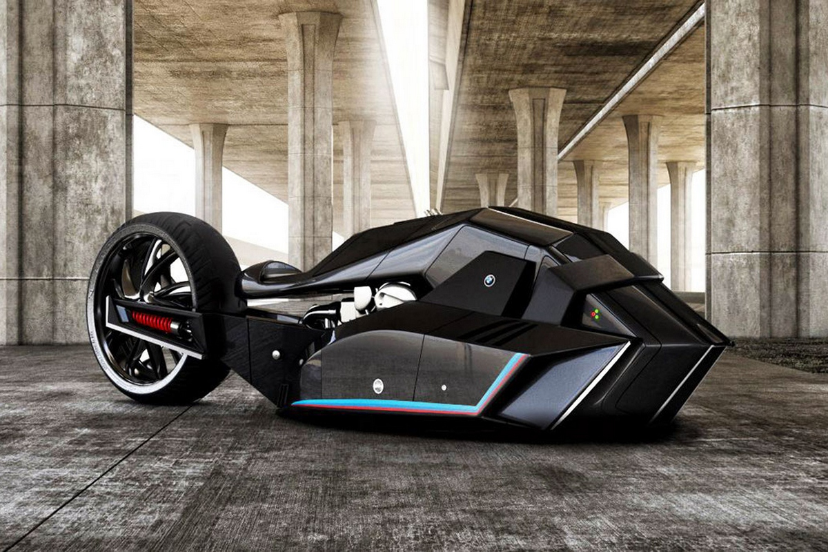 This BMW Titan motorcycle concept would make Batman go green with envy : Luxurylaunches