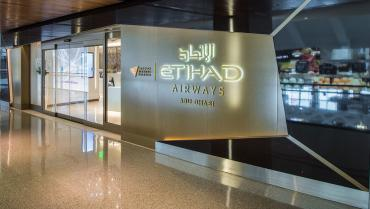 etihad premium lounge at Los Angeles 1