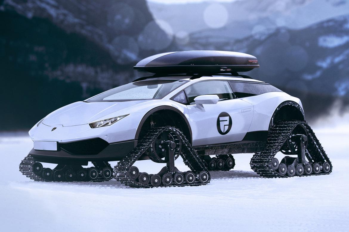 This Lamborghini Huracan Snowmobile Is The Most Luxurious Snow Travelling  Vehicle There Is