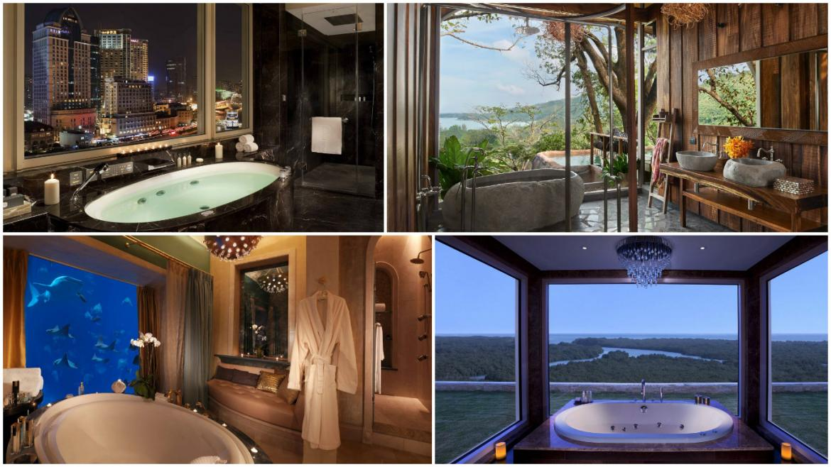 25 coolest hotel bathrooms in the world 2016 for Best hotel design 2016