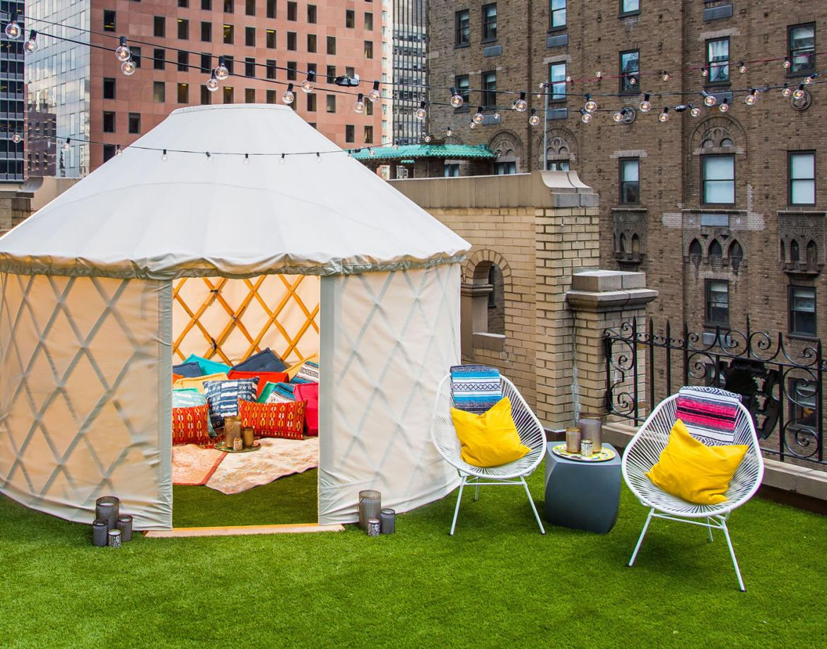 W New York unveils first of its kind glamping suite in the