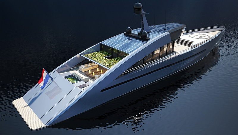 Not Only A Pool And Helipad But This Eco Friendly Yacht
