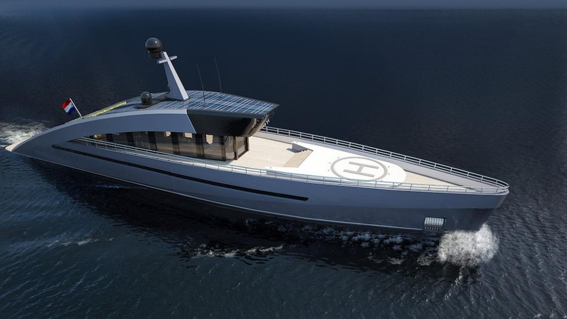 Not only a pool and helipad but this eco-friendly yacht