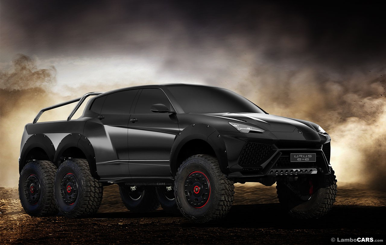 A real king of the roads - The Lamborghini Urus 6x6