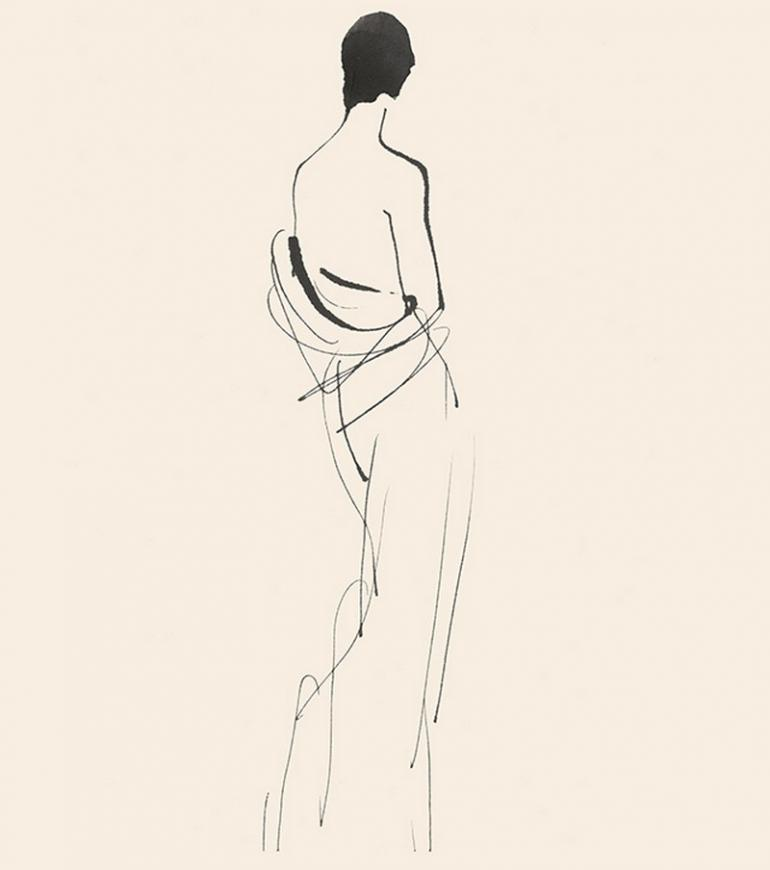 Coco-Chanel-drawing-sketch-spa-at-the-ritz